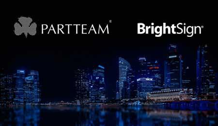 BRIGHTSIGN e PARTTEAM estabelecem parceria estratégica