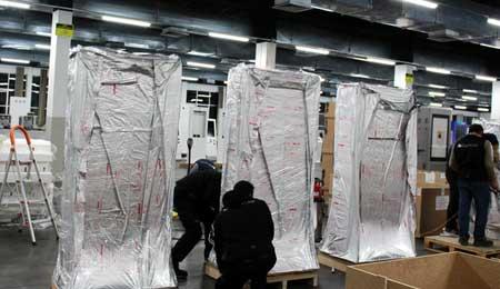 Embalamento a Vácuo para transporte dos quiosques e mupis digitais