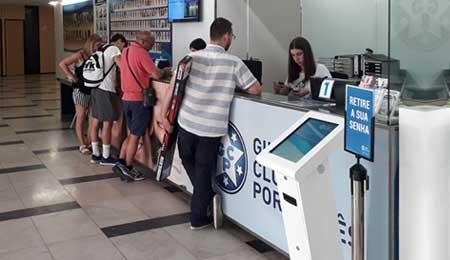 Ginásio Clube Português: Queue management system