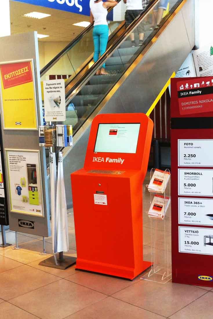 Quiosques interactivos para registo de clientes IKEA no Chipre