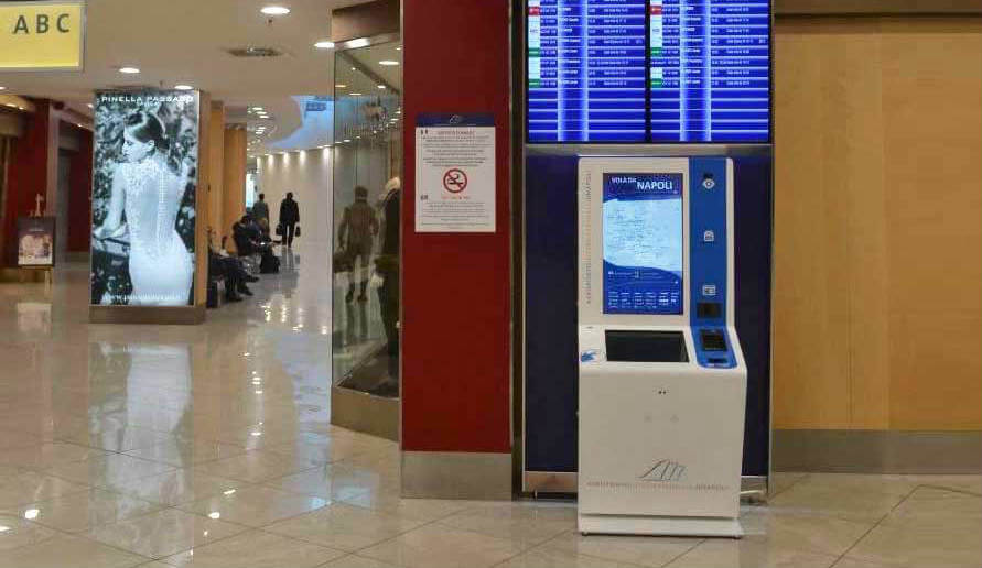 DEVELOPMENT AND PRODUCTION OF AN INTERACTIVE KIOSK FOR THE INTERNAZIONALE DI NAPOLI AIRPORT