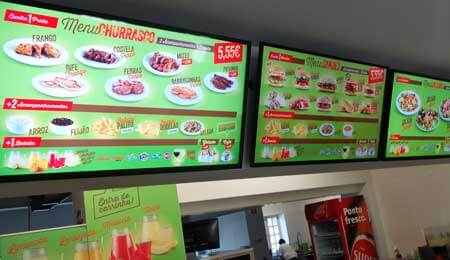 Menu Board Digital para Restaurante SHIKAN