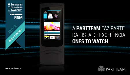 "PARTTEAM NOMEADA PARA A LISTA DE EXCELÊNCIA ""ONES TO WATCH"" EUROPEAN BUSINESS AWARDS"