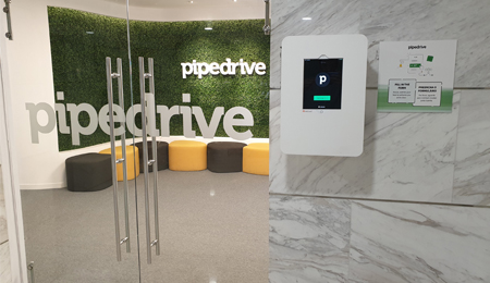 INSTALLED KIOSK AT PIPEDRIVE IN LISBON