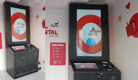 Self-service transactional kiosk IMPACTV for Qatar