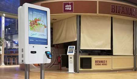 QSR: SELF-SERVICE KIOSKS FOR RESTAURANT AREA IN DOLCE VITA TEJO - LISBON