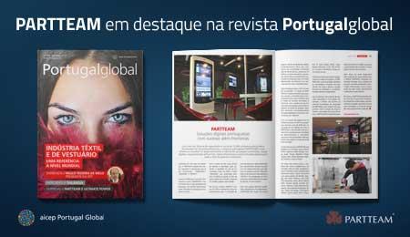 REVISTA PORTUGALGLOBAL DA AICEP, DESTACA A PARTTEAM NA EDIÇÃO DE OUTUBRO