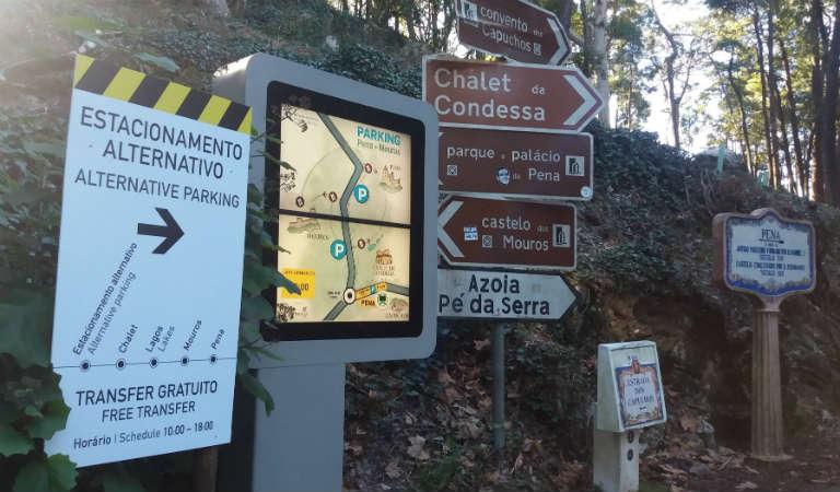 Indicador de estacionamento alternativo em Sintra
