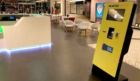 Quiosques Digitais Self-Service para venda de bilhetes no Shopping