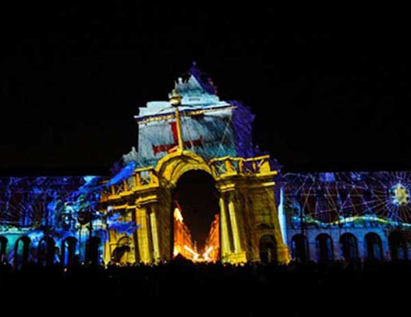 TEMBU MODEL IN THE BIGGEST VIDEO MAPPING PROJECT