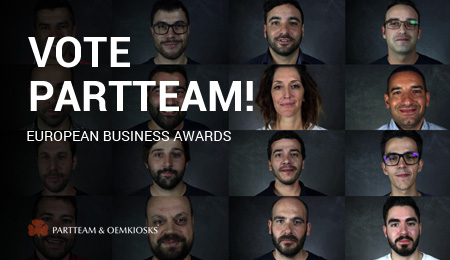 Vote PARTTEAM para os prémios European Business Awards 2019