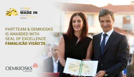 PARTTEAM & OEMKIOSKS awarded with Seal of Excellence – Famalicão Visão'25