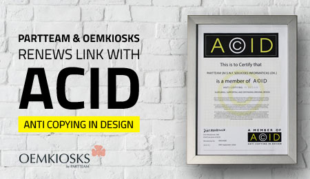 PARTTEAM & OEMKIOSKS renews link with ACID – ANTI COPYING IN DESIGN