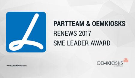 PARTTEAM & OEMKIOSKS RENEWS 2017 SME LEADER AWARD