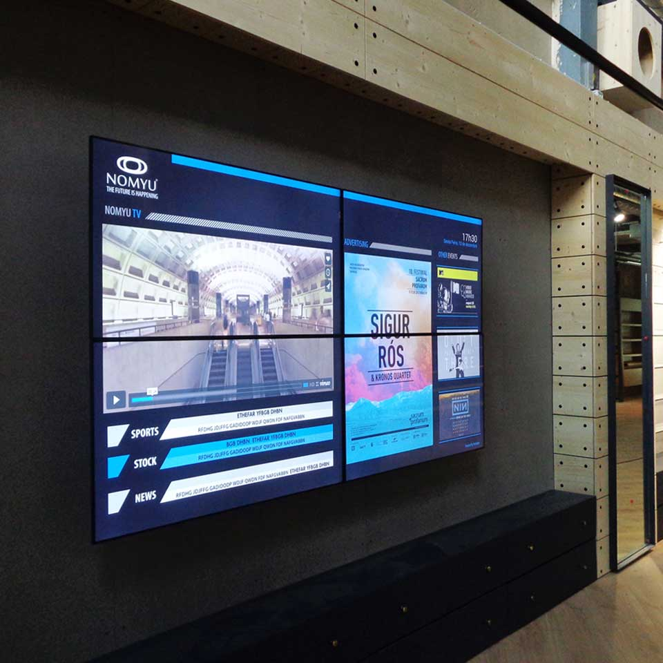 QMAGINE - Video Wall Bazar Desportivo