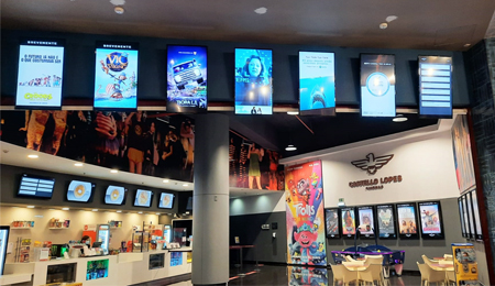 Castello Lopes Cinemas modernizes communication with PARTTEAM digital signage solution