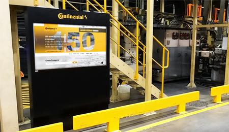 Continental Mabor usa quiosques TURIN para indústria