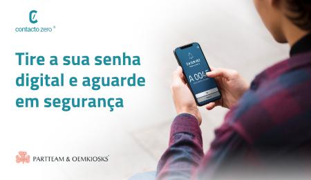 Tire a sua senha virtual e aguarde em segurança com o serviço de SMS e de leitura QR Code QMAGINE