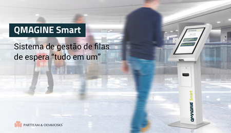 """QMAGINE Smart: O sistema de atendimento inteligente multi-loja, """"tudo em um"""", ideal para centros comerciais"""