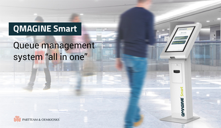 "QMAGINE Smart: The intelligent service system multi-store, ""all-in-one"", ideal for shopping centers"