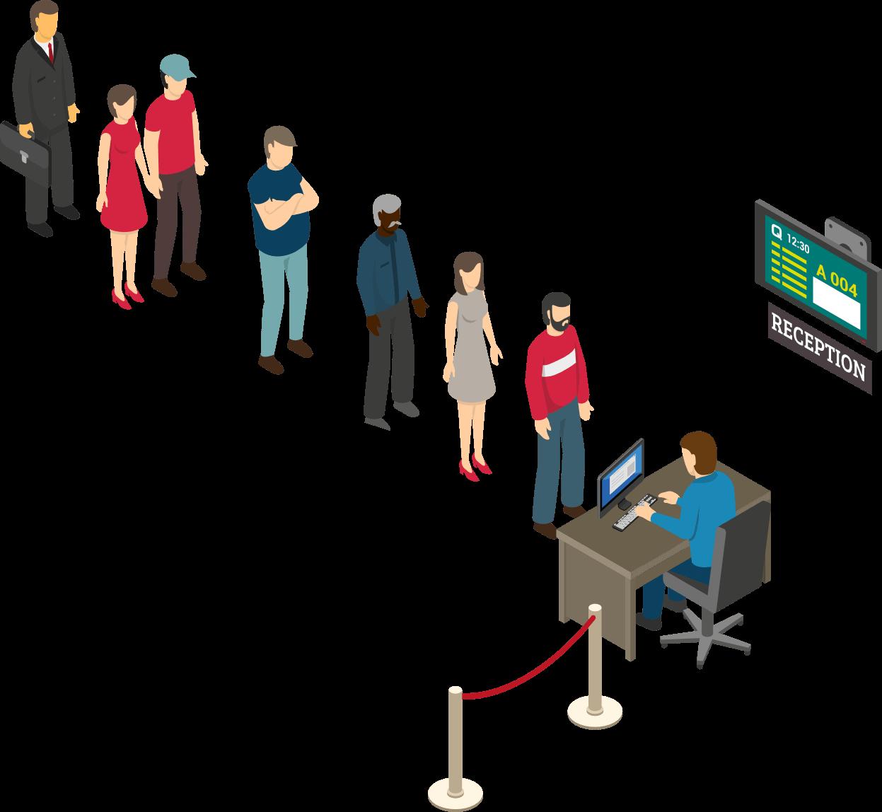 Single line queue management