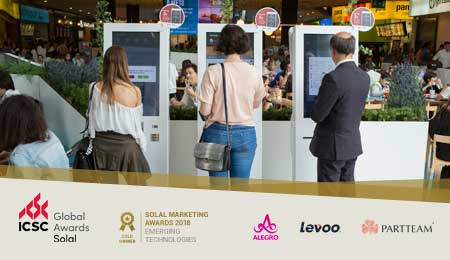 PROJECTO COM QUIOSQUES SELF-SERVICE PARTTEAM VENCE SOLAL MARKETING AWARDS 2018